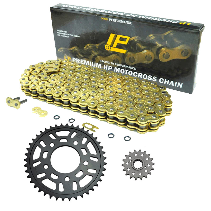 42T 17T Front Rear Sprocket & 530 122 Links Motorcycle Chain Kit for Honda CBR1000F Hurricane SC24 1989-1995 Drive Star Crown motorcycle 530 17t 43t front