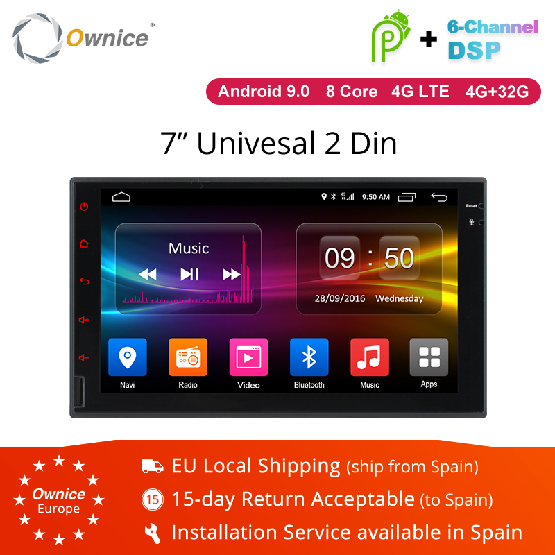Ownice K1 K2 K3 2G RAM Octa Core android 8.1 support 4G SIM LTE réseau DAB + Radio 2 din universel voiture lecteur DVD GPS Navi dvd
