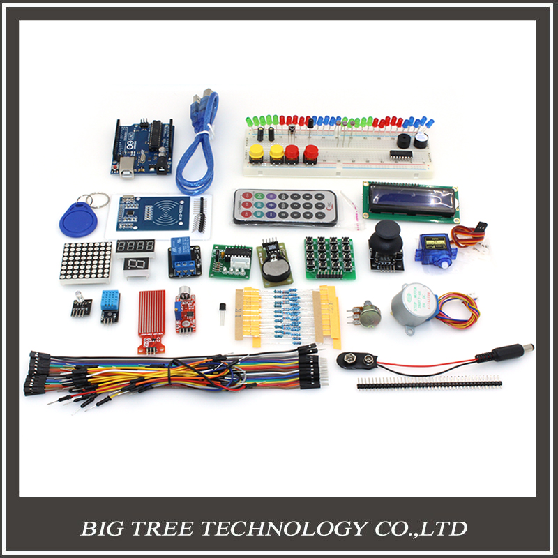 RFID Starter Kit for Arduino UNO R3 Upgraded version Learning Suite LCD 1602 for arduino kit with Retail Box for free shipping open smart uno atmega328p development board for arduino uno r3