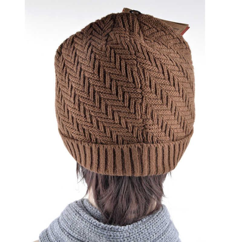 Kış şapka erkekler için çift katmanlı örme yün kap artı kadife kalın kadın şapka kasketleri sonbahar erkekler kötü saç günü kaput gorros