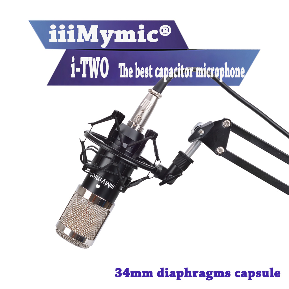 iiiMymic i-TWO !! Professional Wired Condenser Microphone Best Quality 34mm Large Diaphragm Cardioid Capacitor Microphone free shipping hot sale beta91 half cardioid condenser microphone beta91a kick drum microphone condensor wired boundary
