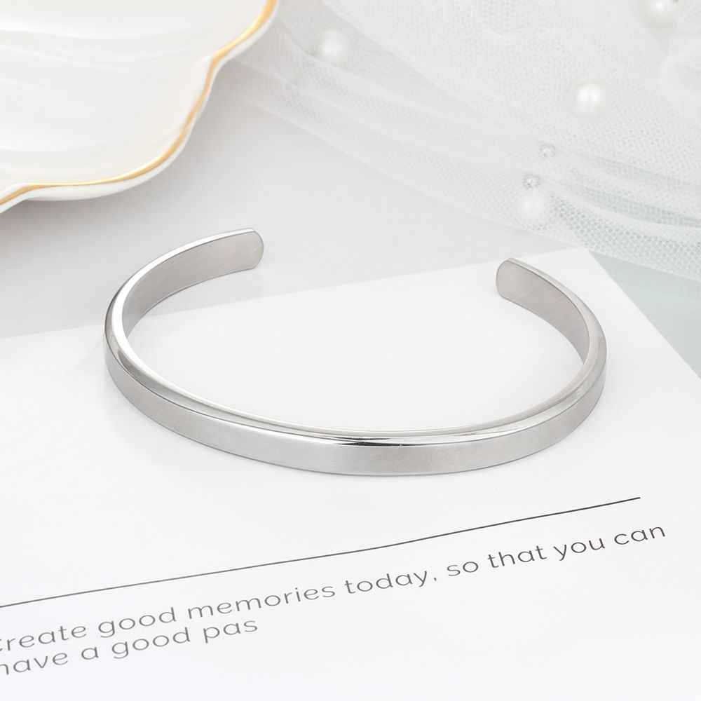 """6 מ""""מ רוחב אישית מתנה חקוק שם מזהה צמיד לנשים תכשיטי נירוסטה צמידים & צמידים (JewelOra BA102300)"""