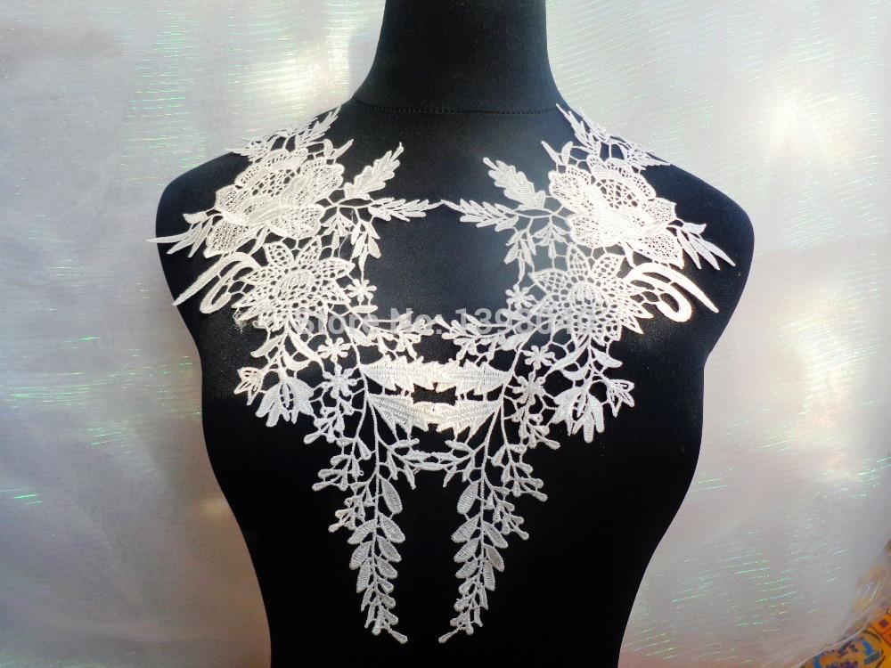 Doprava zdarma nášivka šitá na bavlněnou krajku nášivka 36 * 14 cm pro šaty závoj manuální kutilství příslušenství