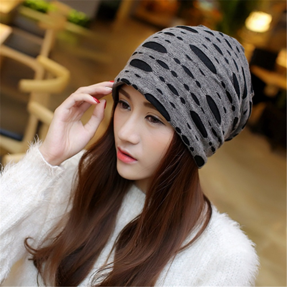 Unisex Wrinkles Style Trendy Hat Hip-hop Type Covering Head Cap Knitting Confinement Cap Therapeutic for Cancerous Persons Sep19