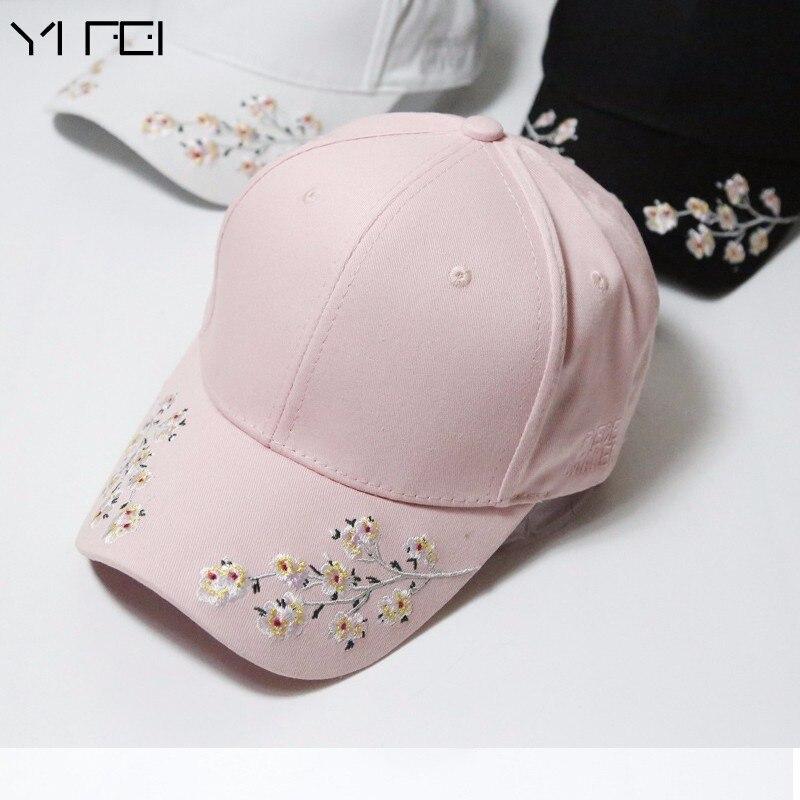 New Baseball Caps Women Snapback Cap Flower Summer Embroidery Curved Autumn Snapback Caps Men Trapback Hip Hop Hats Bone