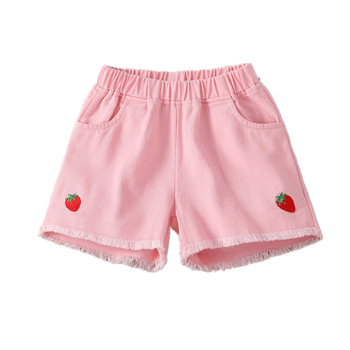 2019 NEW Summer Fashion Girls Soft Denim Pocket Short Jeans Pants Baby Casual Trousers Kids Shorts Children's Clothing 3
