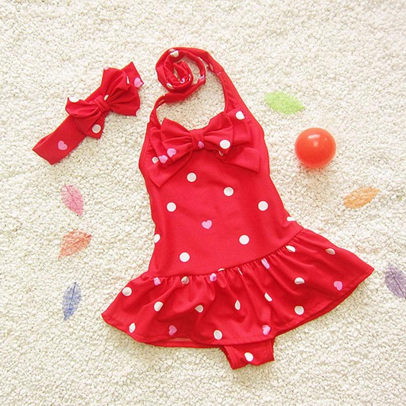 2018 Baby Girls One Piece Swimwear Bikini Meisje Children's Swimwear Cute Girls Bathing Suits Baby Swimming Suit Toddler Swim