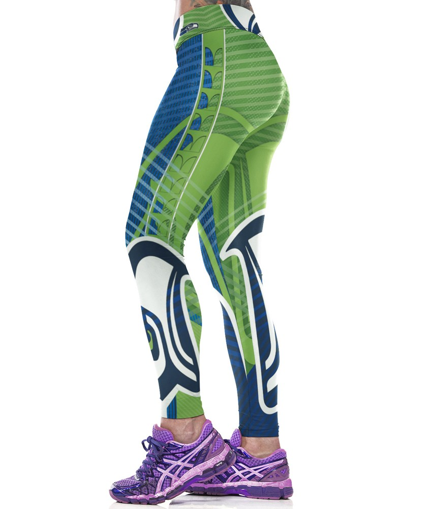 Woman Yoga Pants Fitness Fiber Sport Leggings Seattle Seahawks Sports Tights Trousers Exercise Training Gym Clothing Sportswear (3)