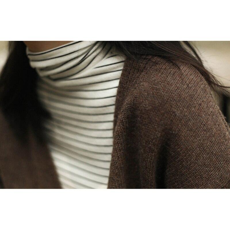 Point Tricoté Black Chandail Cachemire Solide Color Rue cou Tricots Épais camel Casual Ouvrir Veste Survêtement Dame Femmes Cardigans Lâche O Long UwxAqEC
