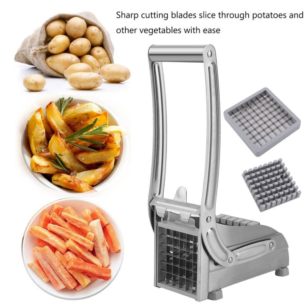 Potato Chipper French Fries Slicer Chip Cutter Chopper Maker Cucumber Cutting Stainless Steel Home Kitchen Machine стоимость