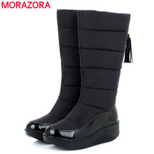 2016 new Russia thick fur winter snow boots Cotton shoes fashion platform down black women boots footwear half knee high boots