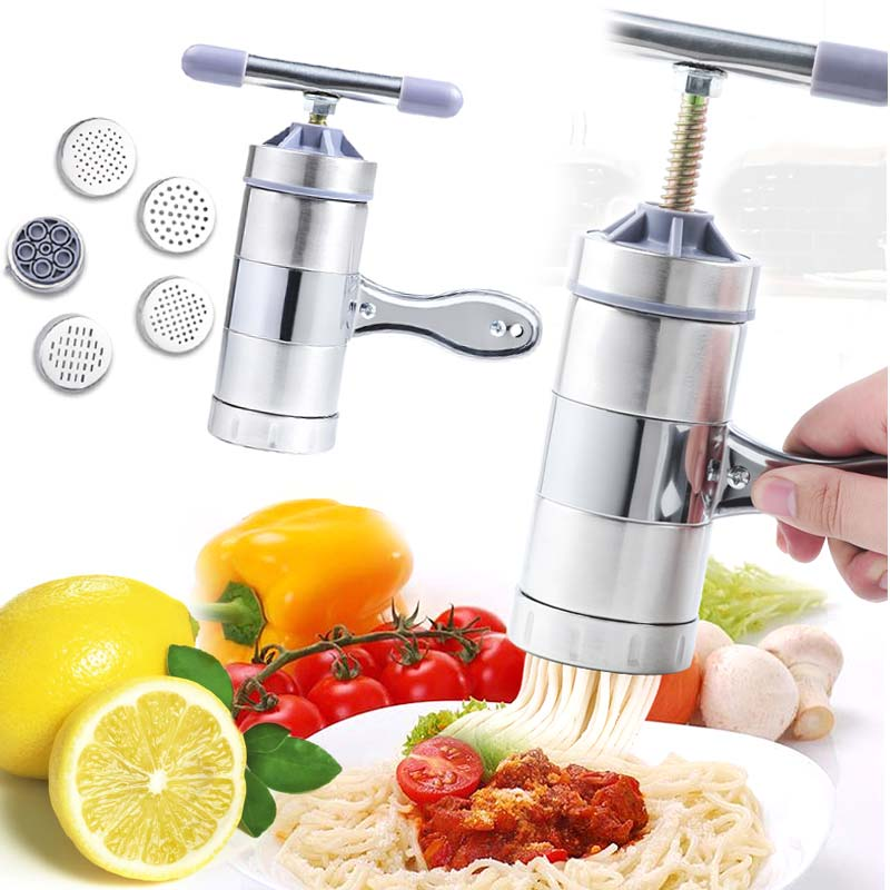 Household Stainless Steel Manual Pasta Machine Hand Pressure Noodle Machine Noodle Maker...