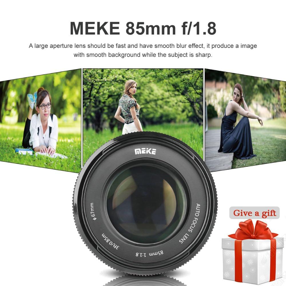 цена на Meike 85mm F/1.8 Auto Focus Lens for Canon EOS EF Mount 600D 6D 80D 1100D 1200D 60D 70D 1300D 5d mark iii DSLR Camera