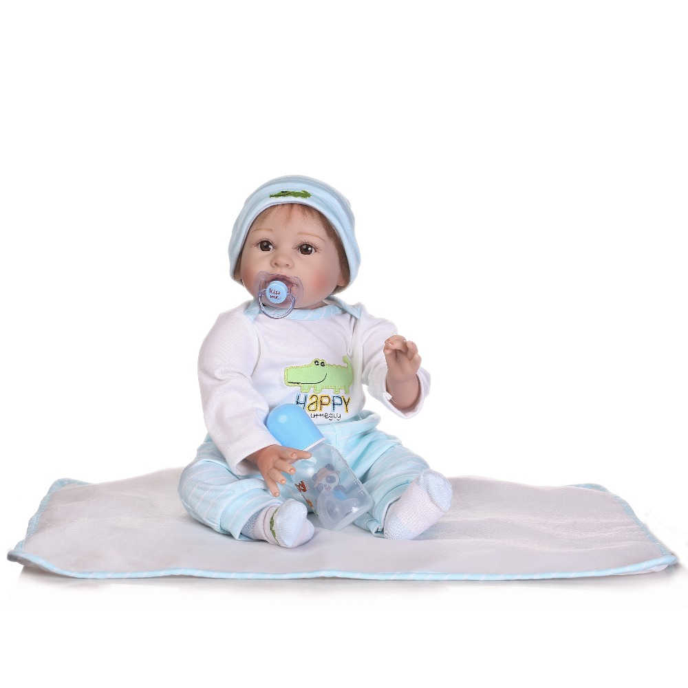 55cm Soft Silicone Reborn Baby Doll Toys Like Real Toddler Baby-Reborn Boy Dolls For Girls Birthday Gift Present Play House Toy кукла 44271926101 usa berenguer reborn baby doll