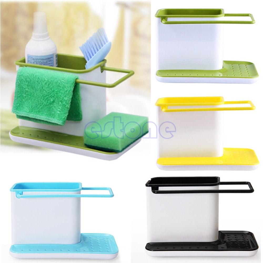 Plastic Multifunction Racks Kitchen Sink Utensils Holders Organizer Caddy  Storage Holder JJ2834(China (Mainland