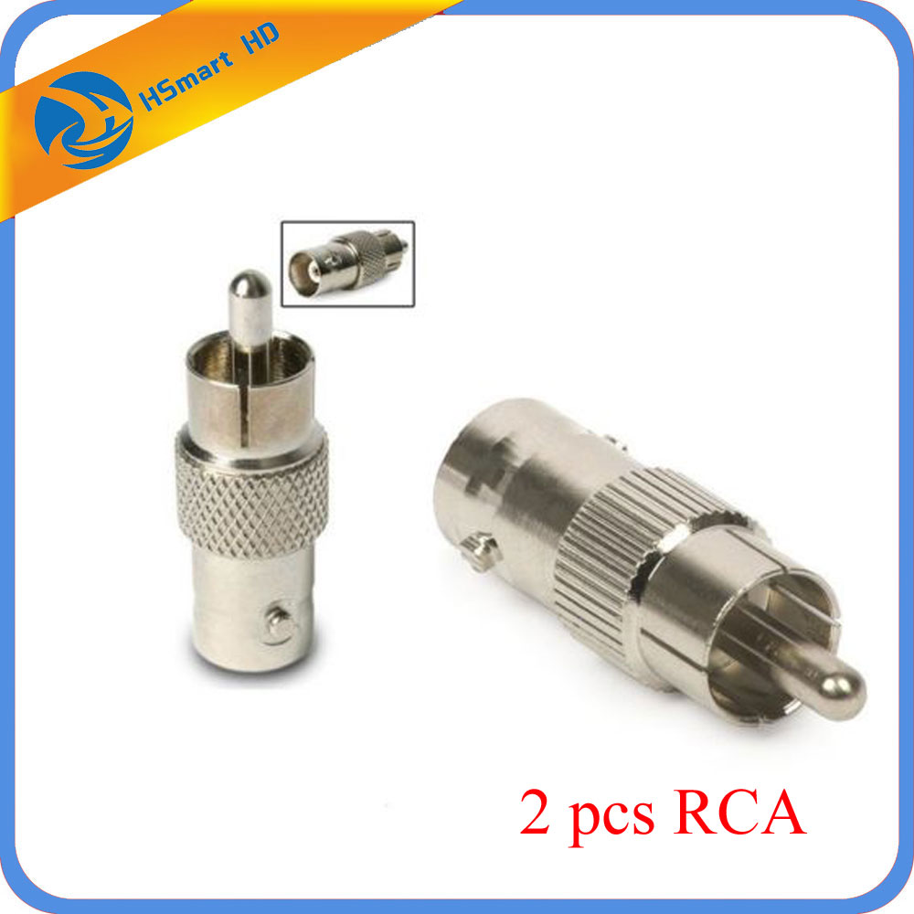 2PCS BNC Female To RCA Male Cable Connector Adapter For CCTV Camera Accessories Systeme Adapter/Converter For Car Camera System