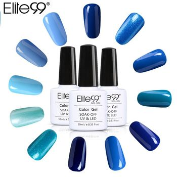 Elite99 Professionelle Schöne Blau Farben Nagellack LED UV Gel Lack Lak Lange Anhaltende 10 ml Gel Lack Gelpolish Nagel kunst