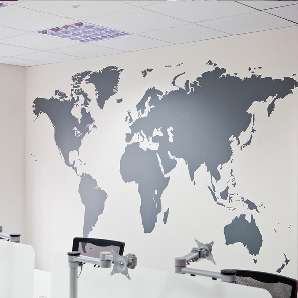 Us 597 37 Offworld Map Removable Vinyl Wall Sticker Wallpaper Home Office Art Decal Mapa Mundi Autocollants Muraux In Wall Stickers From Home