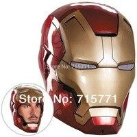 Qualität Iron Man Helm The Avengers Halloween maske ironman Led erwachsene partei COSplay maskerade masken Carnaval Kostüm