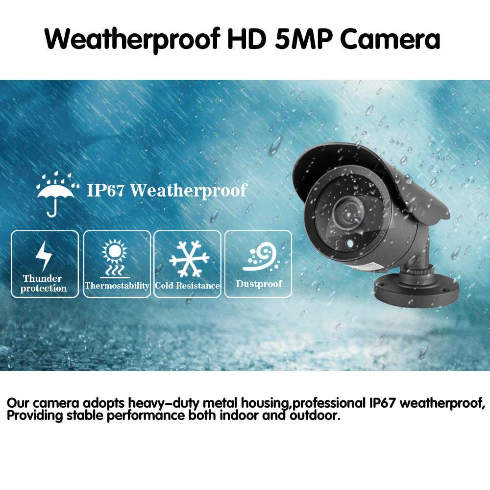 NINIVISION супер видеонаблюдение HD аналоговый 5MP AHD камера наблюдения наружная Водонепроницаемая камера 5.0MP с ИК фильтром