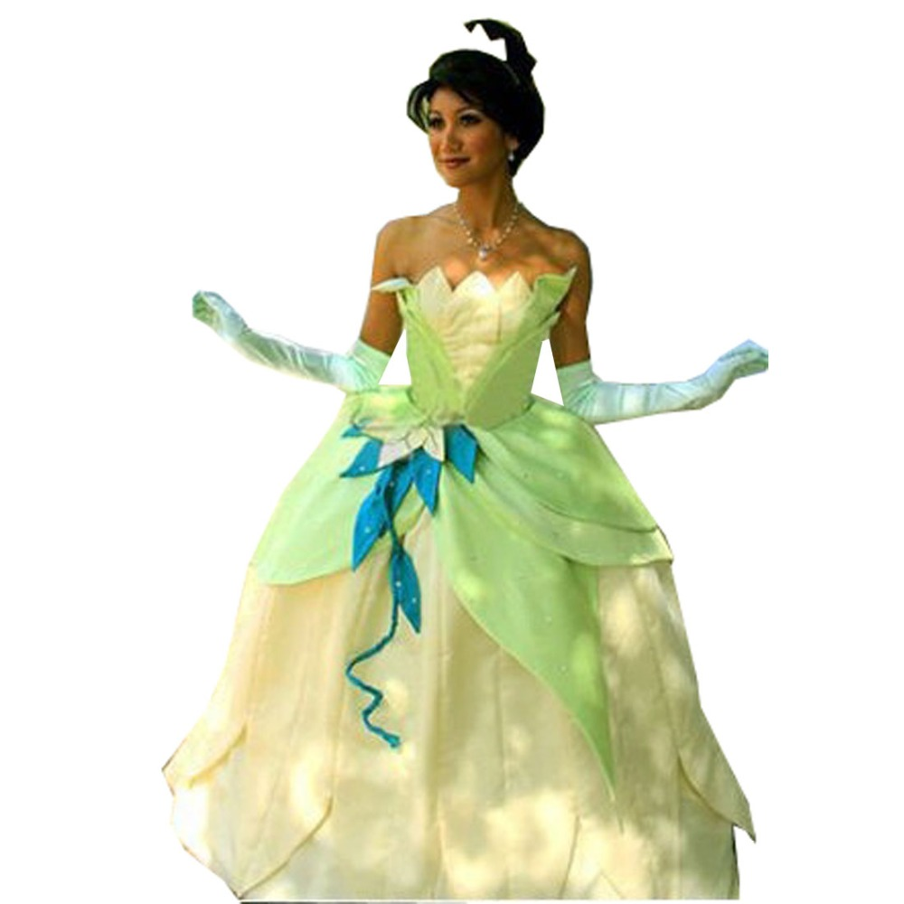 Tiana Princess Dress Costume Party Dress From The Princess And The Frog Cos