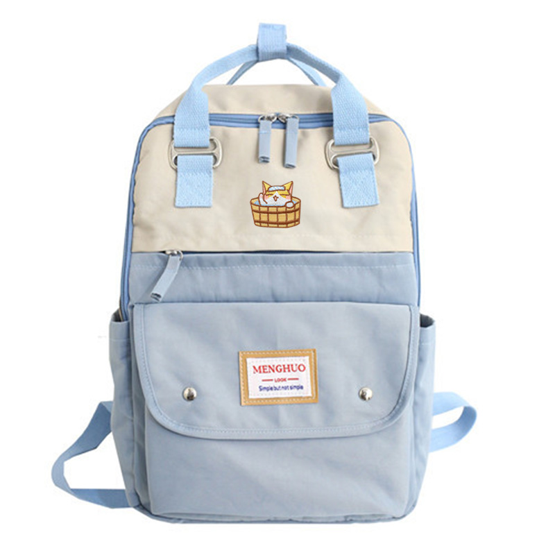 2019 New Neko Atsume Lovely Cat Women Backpack Ladies Travel Bag Fashion Japanese Style Backpack Female Mochila Bagpack Pack