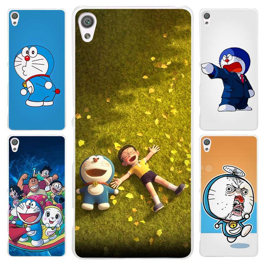 Ocean Cartoon Cat Doraemon Clear Cover Case for Sony Xperia Z1 Z2 Z3 Z4 Z5 M4 Aqua M5 XA XZ C4 E5 l36h