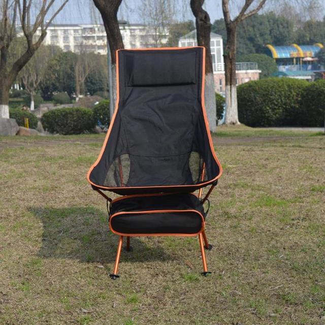 2020 Outdoor Camping Chair Oxford Cloth Portable Folding Camping Chair Seat for Fishing Festival Picnic BBQ Beach Stool With Bag 5