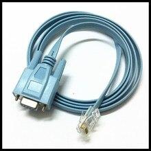 Adaptador de Cable de consola de Router hembra, puerto de red RJ45 a RS232 COM, Serial DB9, para Cisc0, Huawei, CAB-CONSOLE-RJ45