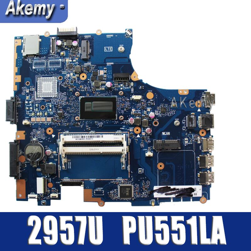 Amazoon  PU551LA laptop motherboard For asus PRO551L PU551L PU551LA PU551LA test original mainboard rev 2.0 2957U