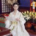 Oro blanco más nuevo juego de tv chino hero-zhao zilong de tres reinos yun'er mismo diseño actriz drama de época hanfu