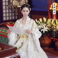 White Gold Newest TV Play Chinese Hero-Zhao ZiLong of Three Kingdoms Period Actress Yun'Er Same Design Drama Costume Hanfu