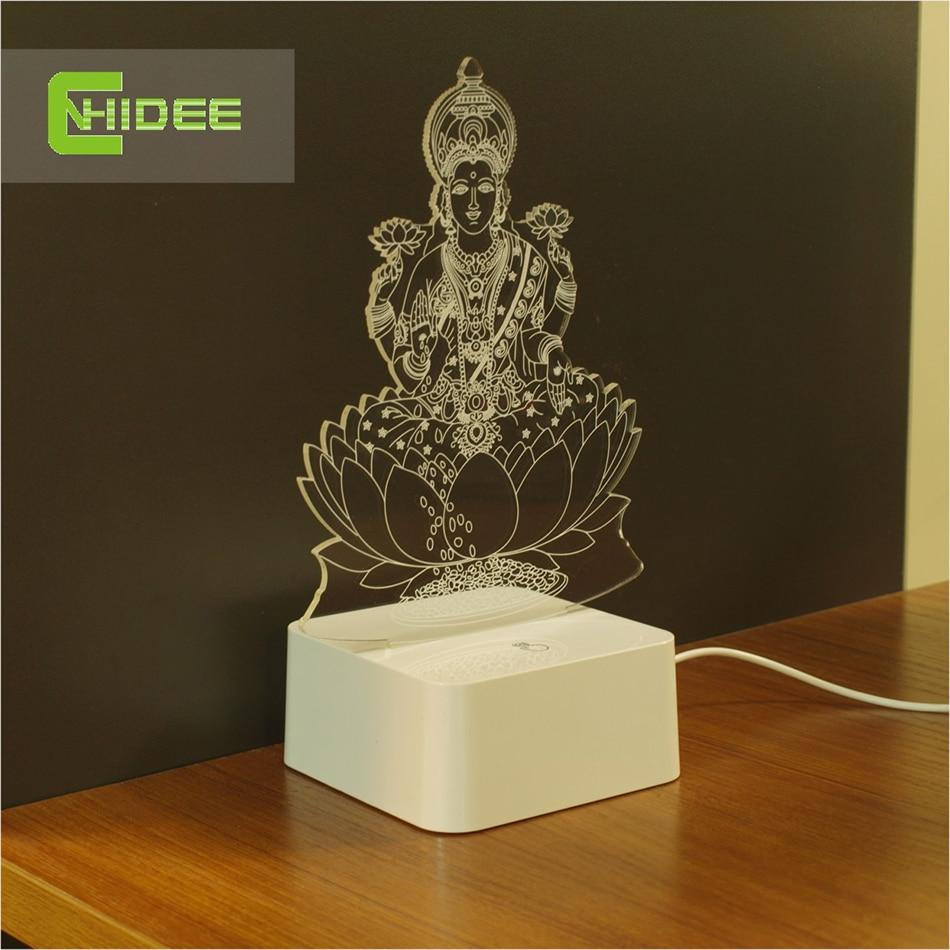 Cnhidee novel engraved table 3d led light home decor fairy - Lampade da tavolo ...