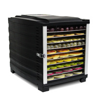 Stainless Steel Food Vegetable Drying Machine Home 10 Layer Timing Electric Dehydrator Fruit Tea Herbal Meat