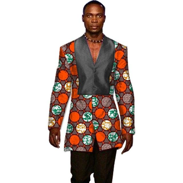Diseño del remiendo Blazer Hombres Africano Dashiki P Ropa Slim Fit Adaptada de Los Hombres Capa Del Juego Blazer Hombres Ropa Africa Africano