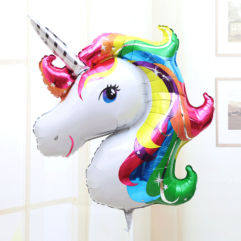 2016 summer giant inflatable unicorn air sofa air  : 1pcs Anagram Rainbow Unicorn Aluminum Foil Balloons America Imported Cartoon Animal Balloon Helium Float Ball Kid from tvoya-strahovka.ru size 800 x 800 jpeg 759kB