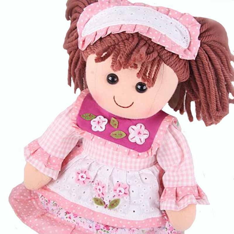 Smafes rellenó muñecas de trapo de juguete para niñas de 17 pulgadas suave para bebés nacido muñeca con paño y pelo regalo de Navidad para niños cumpleaños