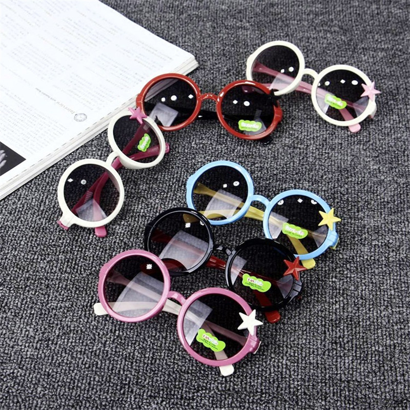 Lovely Kids Sunglasses Child Baby Safety Coating Sun Glasses UV400 Gilrs Eyewear Shades Infant oculos de sol 8 Colors