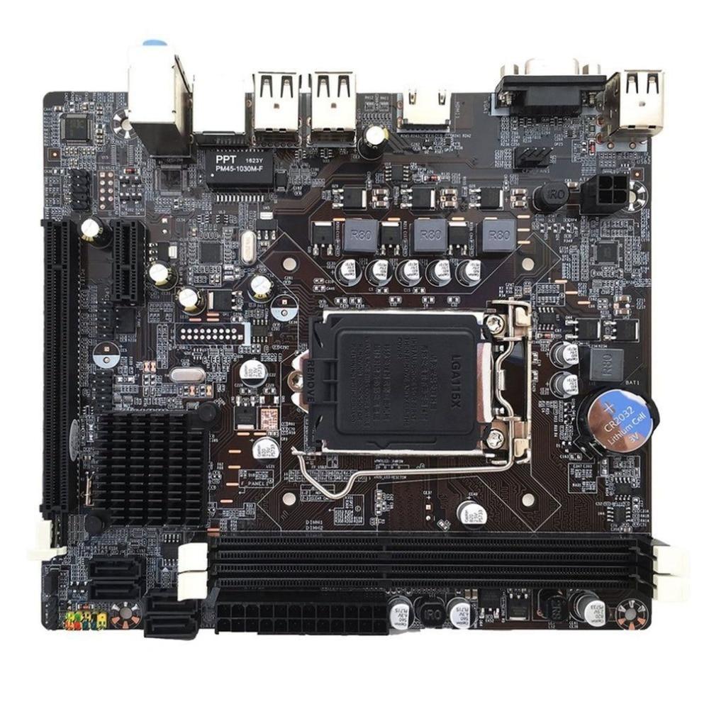 H61 Desktop Computer Motherboard 1155 Pin CPU Interface Upgrade USB2.0 DDR3 1600/1333 2 X DDR3 DIMM memory slots Mainboard