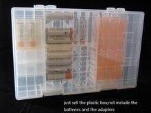 купить 10pcs/lot big Plastic AA AAA C D 9V Hard Plastic Battery Storage Boxes Battery Case Protector  Holder Organizer with hook handle недорого
