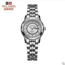 Doble calendario reloj de cuarzo resistente al agua reloj de los hombres amantes de los relojes en la mesa