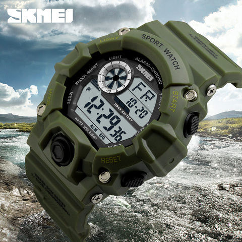 S SHOCK Men Sports Watches SKMEI Luxury Brand Camouflage Military Watches Digital LED Waterproof Wristwatches Relogio Masculino Islamabad