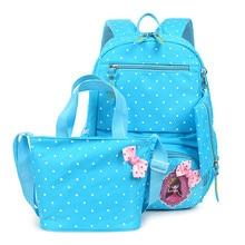 korean cute printing backpack women school bags set for teenage girls bookbags vintage laptop backpacks female