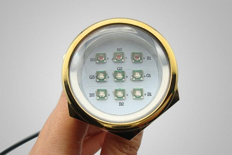 Waterproof IP68 RGB 27W Boat Drain Plug font b Light b font 9 LED Boat font