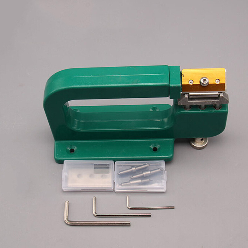 1 Set Aluminum Edge Cut Skiving Tool  Diy Leather Craft Splitter Skiver Paring Peeling Machine