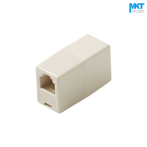 10Pcs Sample RJ11 6P4C Telephone Straight Coupler Cable Extender Joiner Adapter Connector