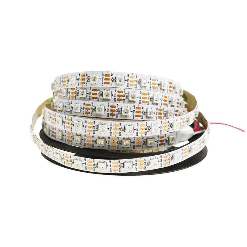 Купить с кэшбэком 1/2/3/4/5 Meter WS2812B Full Color Symphony 30 60 74 96 144 LED Pixel/Meter Built-in IC Programmable Addressable 5V Strip lights