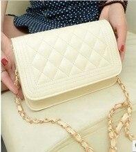 MAYFULL new fashion shoulder bag women diamond lattice chain Korean female soft hasp flap messger bags