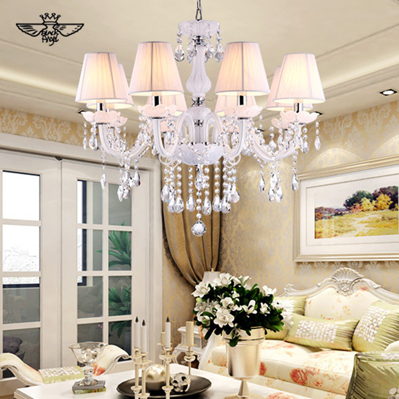 Aliexpress Com Buy 2017 European Style White Crystal Chandeliers Modern LED  Chandeliers For Living Room Lustres Part 46