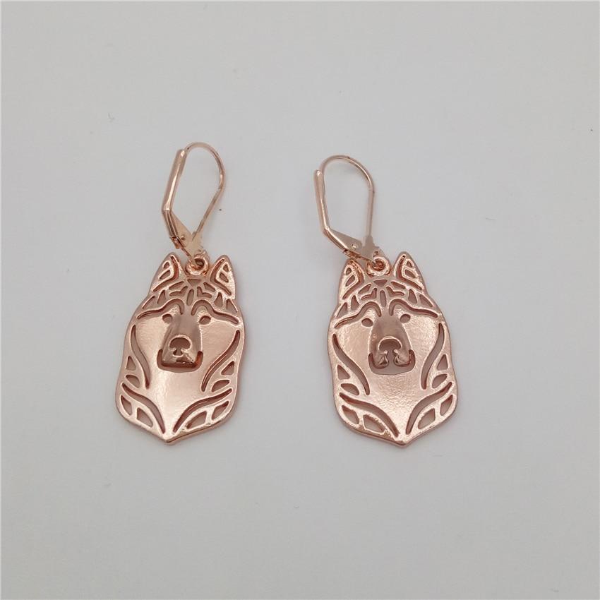 LPHZQH trendy cute Siberian Husky dog Earings For Women fashion jewelery drop earings Christmas gift jewelry gold silver color